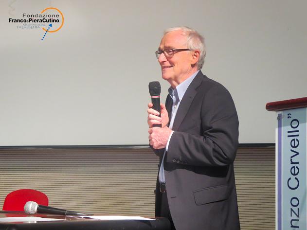 Il prof. Aurelio Maggio durante il meeting